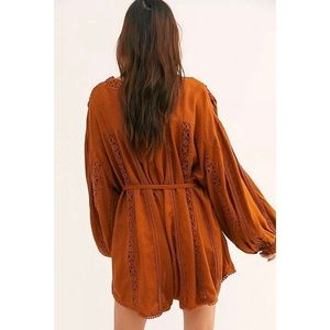 Free People I Mean It Rober Romper Brown New